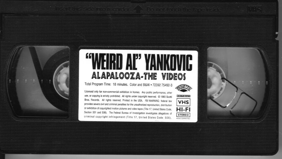 VHS Weird Al Yankovic Alapalooza